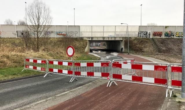 Wateroverlast in tunnel Brailleweg/A28/Vondellaan