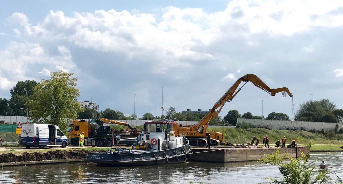 Vernieuwen kade Noord-Willemskanaal